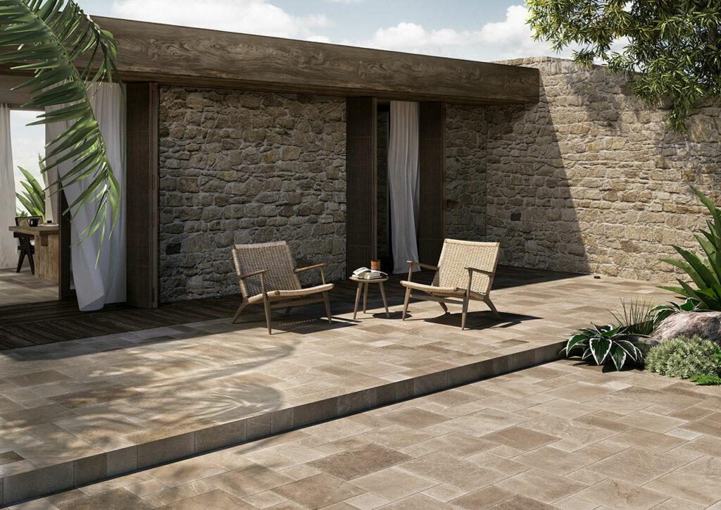 aménagement extérieur pierre massive stone modulo