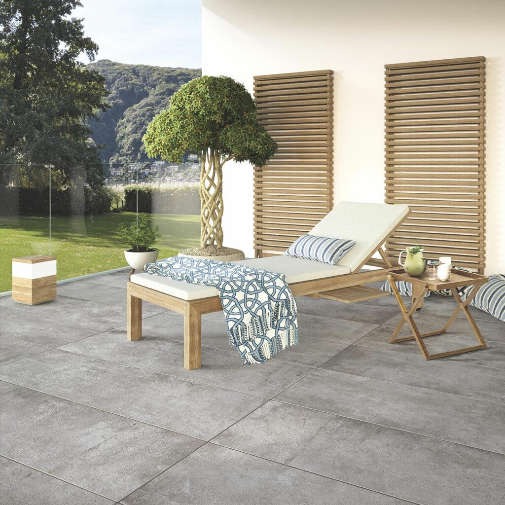 aménagement extérieur bois plant