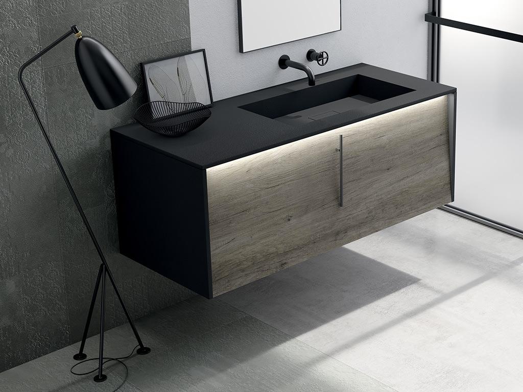 meuble salle de bain incline